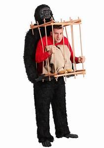 Gorilla Size Chart Man In A Gorilla Cage Costume Optical Illusion Costumes
