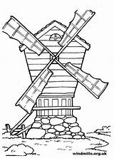 Windmill Windmills Colouring Coloring Drawing Colour Print Getdrawings sketch template