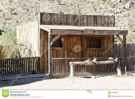 saloon style wood building stock  image