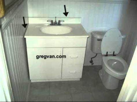 How To Install Bathroom Vanity Against Wall - bathroom counter top gaps mold mildew and water damage