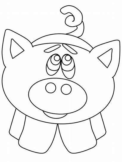 Coloring Pages Pig Cut Animals Confetti Animal
