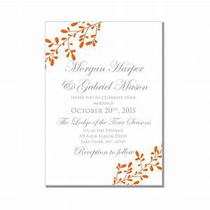 fall wedding invitation printable diy invitations and With wedding invitation free pick