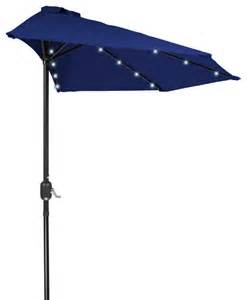 9 patio led half umbrella led solar powered blue