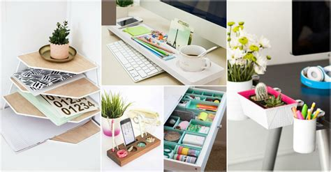smart desk organization ideas      tidy