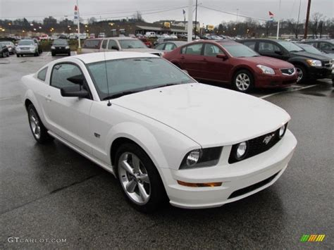 white ford mustang for performance white 2008 ford mustang gt premium coupe
