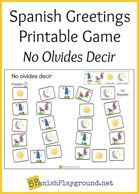 spanish  game  printable board spanish