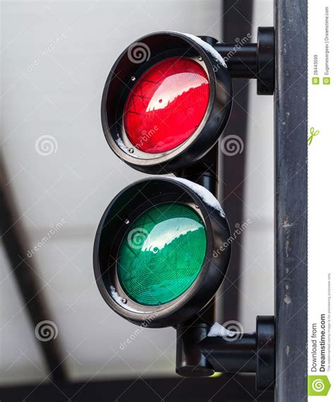 and green lights and green small traffic light royalty free stock