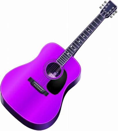 Guitar Clipart Clip Vector Rock Rockstar Purple