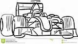F1 Formule Vector Line Silhouette Kleurplaat Race Automobile Umrissen Descritta Vettoriale Bull Geschetste Outlined Illustrazione Sketch Kleurplaten Silhouet Diritti Sketchite sketch template