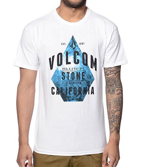 volcom handy corp white t shirt