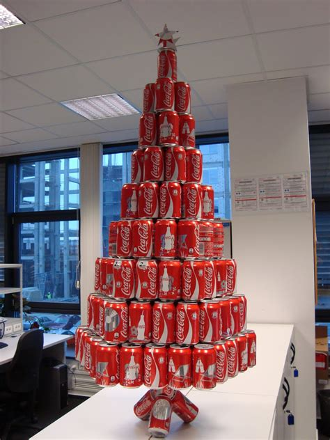 oh look a soda can christmas tree the christmas tree in the office