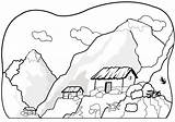 Mountain Coloring Pages sketch template
