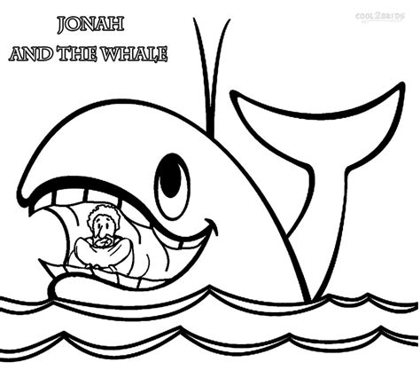 printable jonah and the whale coloring pages for