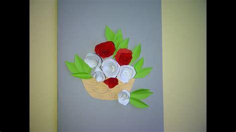 schoene geschenke zum muttertag  blumenkarte mit rosen