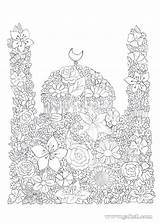 Coloring Pages Ramadan Activities Islamic Eid Crafts Mosque Colouring Islam Arabic Projects Masjid Studies Colour Craft sketch template