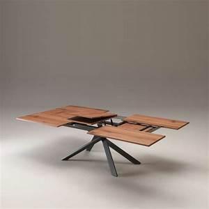 Table Bois Metal Extensible : table design extensible rectangulaire en bois et m tal 4x4 4 pieds tables chaises et ~ Teatrodelosmanantiales.com Idées de Décoration