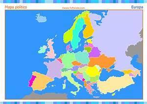 Mapa de Europa para completar Mapas, tarjetas