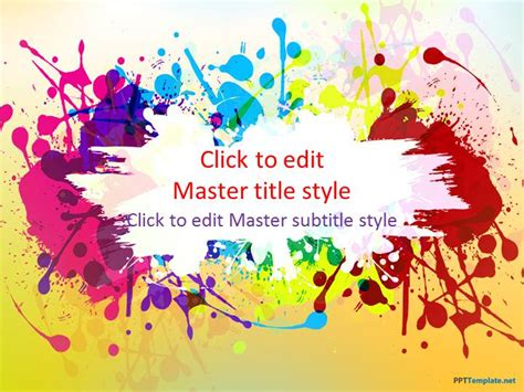 art powerpoint free color ppt template