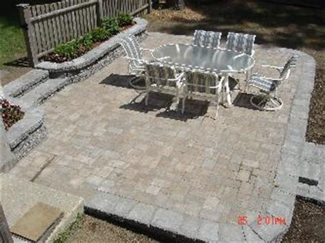 20 x 15 paver patio with block walls and stairs pictures