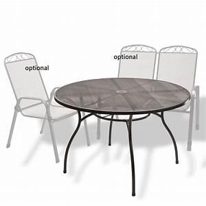Gartentisch 120 Cm : gartentisch streckmetalltisch rund las vegas anthrazit 120 x 71 cm ~ Eleganceandgraceweddings.com Haus und Dekorationen