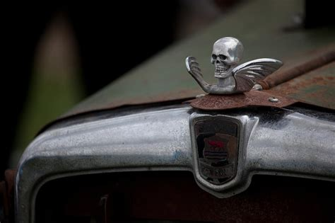 Hot Rod Hood Ornament Photograph By Charlie Moss