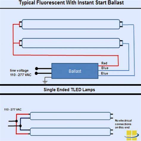 led light fixture wiring t8 led ls q a retrofitting ballasts tombstones