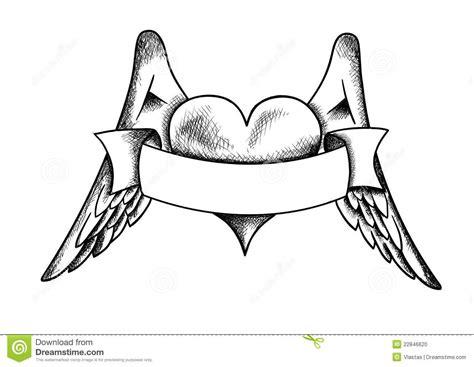 Engelenvleugels Kleurplaat by Hart Met De Vleugels Stock Foto Afbeelding 22846620