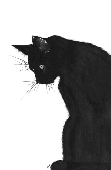What Would October Be Without Some Black Cat Art? Black