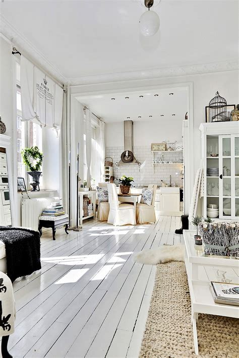 white and shabby scandinavian living decordemon shabby chic atmosphere for a swedish apartment