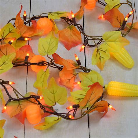 fall string lights maple leaf corn pumpkin string lights garland style