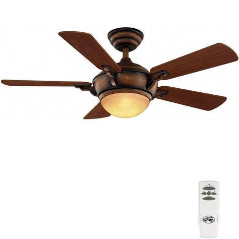 home depot ceiling fans with remote hton bay midili 44 in indoor gilded espresso ceiling