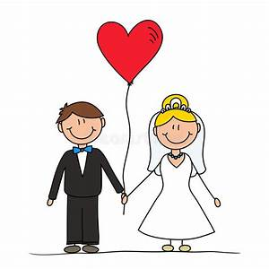 Dessin Couple Mariage Couleur : dessin mignon de couples de mariage illustration stock ~ Melissatoandfro.com Idées de Décoration