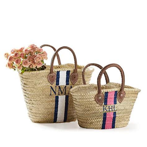 hand painted straw beach bag mark  graham