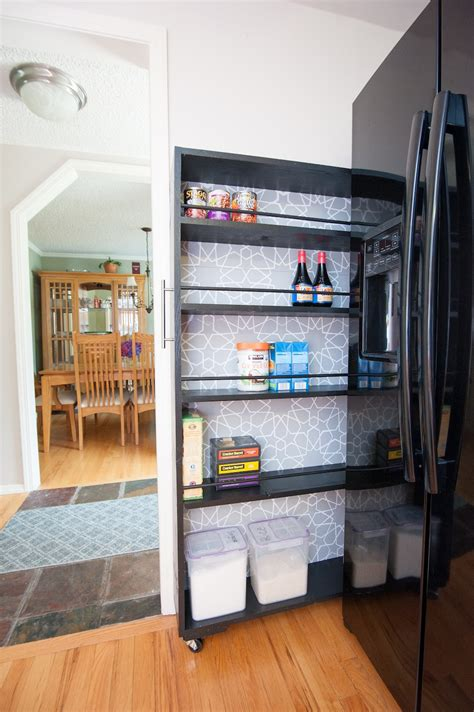 Kitchen Pantry Roll Out With Wheels by The Space Saving Rolling Pantry A Diy Tutorial Build Realty