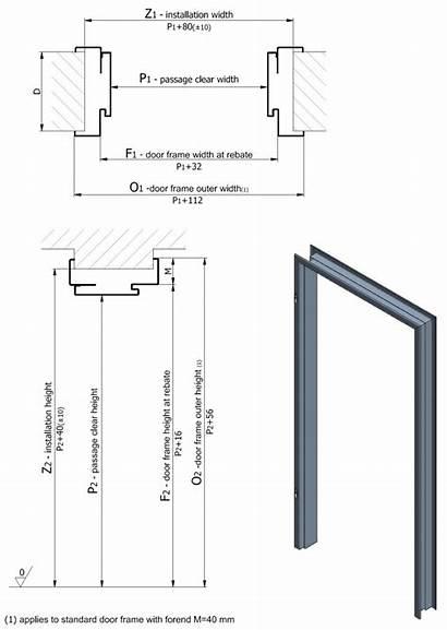 Dimensions Door Frame Determining Example Calculating