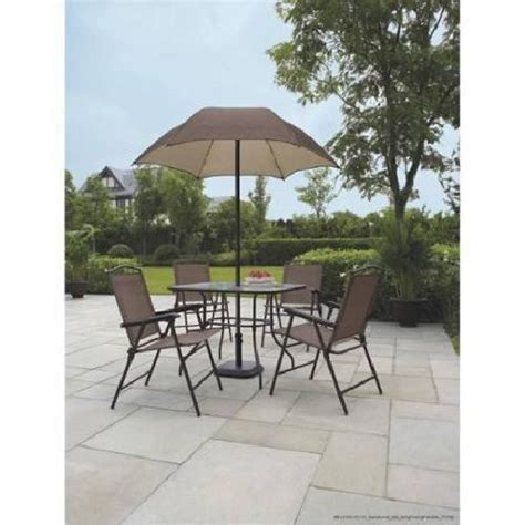 Cheap Patio Sets With Umbrella by Patio Furniture Set With Umbrella Folding Chairs Glass Top