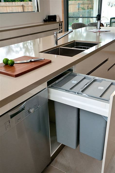hideaway kitchen sink kitchen design idea hide pull out trash bins in your 1635