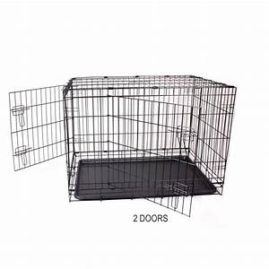 New 42quot xlarge collapsible metal pet puppy dog cage crate for Xl dog crate furniture
