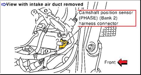 p  infiniti  camshaft position sensor circuit