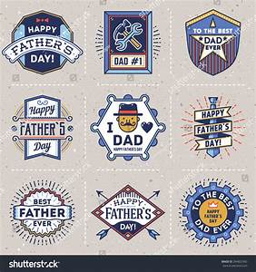 Happy Fathers Day Color Assorted Design Stock Vector ...