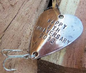 eighth anniversary gift for 8th wedding by candtcustomlures With 8th wedding anniversary gifts for him