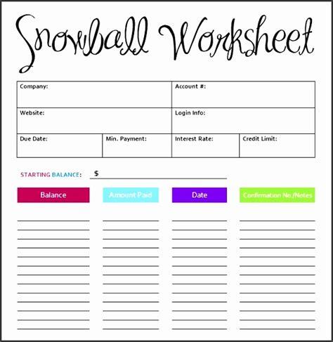 debt snowball excel template sampletemplatess