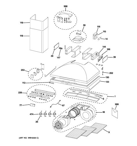 assembly view  range hood zvsdss