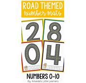 Road Themed Number Mats  Playdough Or Cars Elementary