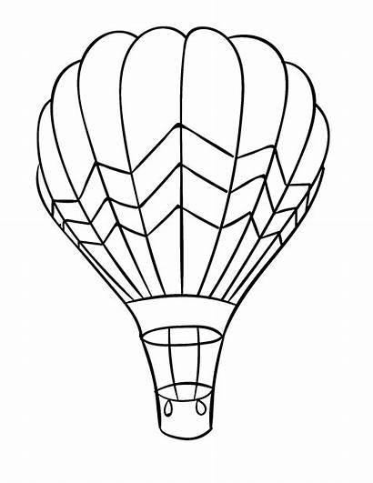 Air Balloon Drawing Coloring Balon Lines Balloons
