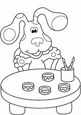 Coloring Printable Clues Blues Toddler sketch template