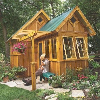 shed guest house garden shed or guest cabin plans http