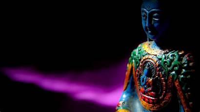 Buddha Meditation Buddhism Dark Statue Buddhist Laptop