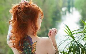 Suicide Tattoo Red Head Girl HD