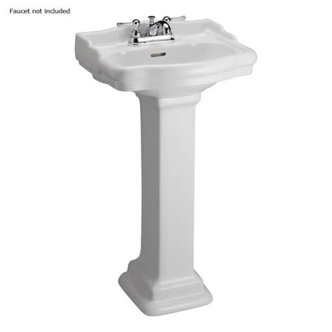 Bathroom Pedestal Sinks Lowes by Shop Barclay 34 1 4 In H Stanford White Vitreous China